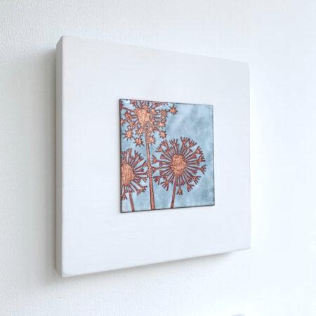 Janine Partington - Allium enamel artwork
