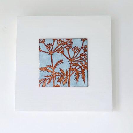 Janine Partington - fennel enamel copper panel