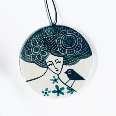 Karen Risby - porcelain wall hanging decoration