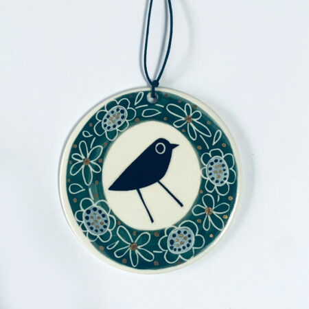 Karen Risby - porcelain wall hanging decoration with lustre glaze