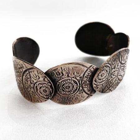 Oathill and Kinsfolk - coin cuff style bangle