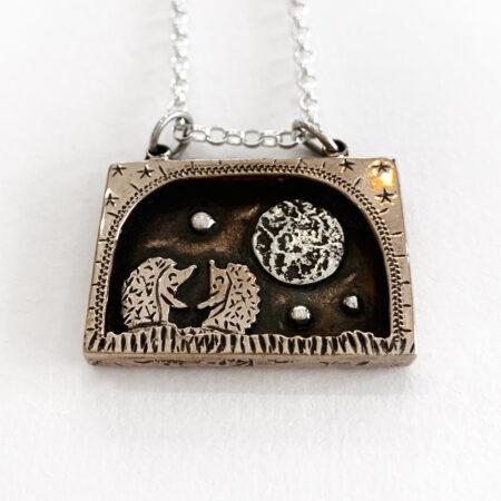 Oathill and Kinsfolk - Hedgehog pendant