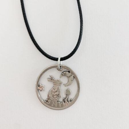 Oathill and Kinsfolk - Rabbit and Moon Pendant
