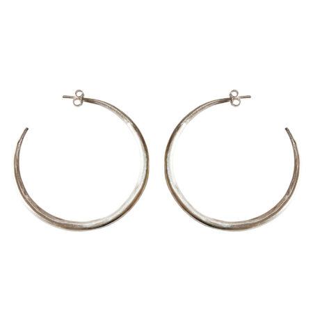 Eleni Koumara - large silver hoop earrings