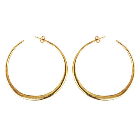 Eleni Koumara - large hoop earrings