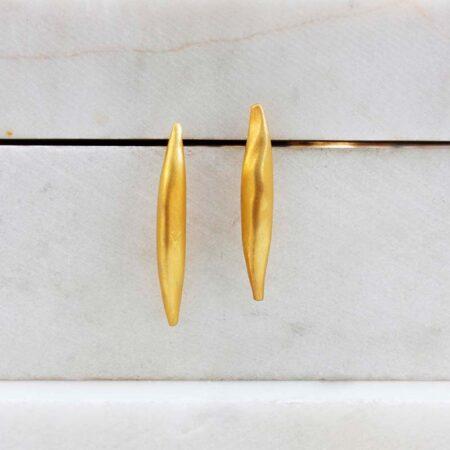 Eleni Koumara - fine silver wings earrings.