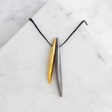 Eleni Koumara - fine silver wings necklace.